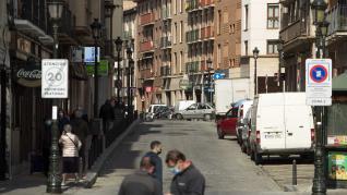 Estado de la calle Predicadores de Zaragoza