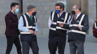 José Luis Escrivá, ministro de Inclusión, Seguridad Social y Migraciones, visitó este jueves las instalaciones que el grupo Saica tiene en el Burgo de Ebro.
