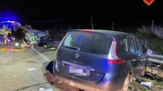 Accidente de tráfico en Fuentes de Ebro