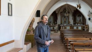 Arturo Ripol, ermitaño de Santa Bárbara, en Alcañiz.