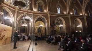 Acto del Día de Aragón en Teruel con la presencia del presidente del Gobierno de Aragón, Javier Lambán