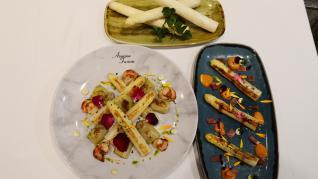 Dos de las recetas que ofrece el restaurante Azarina Fussion.