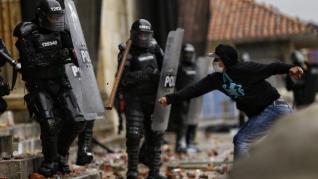 Represión ante las protestas en Colombia