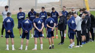 Entrenamiento del Real Zaragoza en la Ciudad Deportiva para preparar el partido contra Las Palmas
