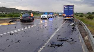 Accidente en El Burgo de Ebro