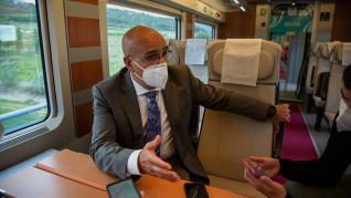 Calatayud ha recibido la primera parada en pruebas de un tren Avlo de Renfe