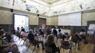 Cineforum y actuación de Daniball en el Museo Pablo Gargallo de Zaragoza, con motivo del Día Internacional de los Museos.