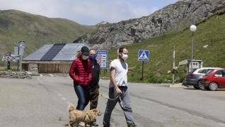 Ambiente en el paso fronterizo del Portalet en la víspera de entrada en vigor de las nuevas medidas.