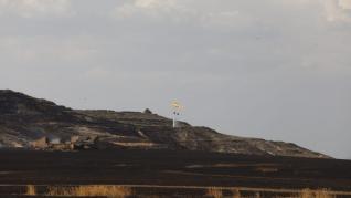 El primer gran incendio de la temporada en Aragón ha quemado unas 50 hectáreas de cereal cerca de Almudévar.