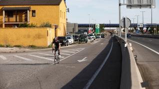 El accidente mortal se ha producido en la carretera de Castellón, cerca de la gasolinera BP.