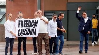 Salida de los presos tras los indultos del procés