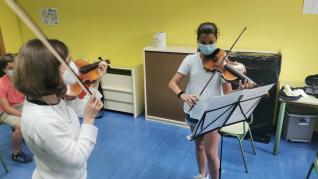 Participantes en los campus del Festival Pirineos Classic y Jazzetania de 2021
