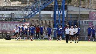 Primer entrenamiento de la pretemporada del Real Zaragoza