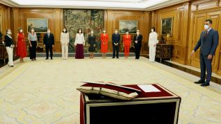 Toma de posesión de los nuevos ministros del Gobierno.