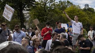 Anti Sanitary pass demonstration in Paris