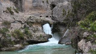 Nacimiento del río Pitarque.