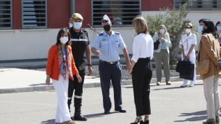 Margarita Robles visita la Base Aérea de Zaragoza