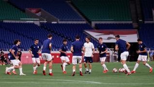 Foto partido de semifinales de los Juegos Olímpicos Tokio 2020: Japón-España