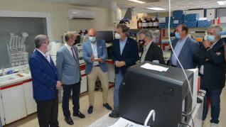 Javier Lambán visita la que será la mayor planta de producción de biofertilizantes de Europa