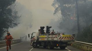 Incendio forestal en Lugo