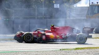 Accidente de Carlos Sainz en el Gran Premio de Italia en Monza