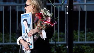 Homenajes a las víctimas de los atentados del 11-S en Nueva York.