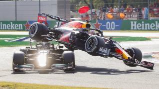 Gran Premio de Italia de Fórmula 1: accidente de Verstappen y Hamilton
