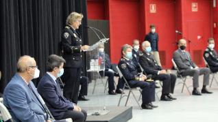 Celebración de la festividad de la Policía Local en Huesca.