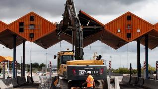 Retirada de las cabinas de peaje en la C-32 en Cataluña