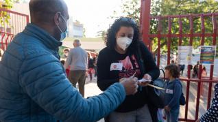 Protesta en el colegio María Moliner de Zaragoza