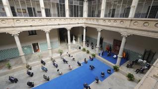 El palacio de los Condes de Morata, sede del TSJA, durante el acto de apertura del año judicial en Aragón.