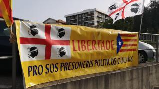 Manifestaciones en Barcelona tras la detención de Puigdemont