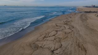 Oil Spill off the coast of Huntington Beach, California