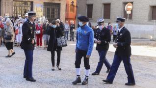 La Guardia Civil de Huesca ha celebrado el día del Pilar con una misa en la catedral y un acto castrense en la Comandancia.