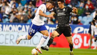 Partido del Real Zaragoza contra la Ponferradina en el estadio de La Romareda.