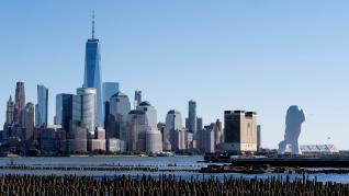 'Water's Soul', la escultura situada a las orillas del Hudson que mira a Nueva York