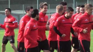 Entrenamiento del miércoles del Real Zaragoza