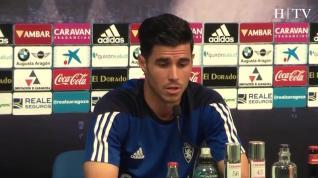 Rueda de prensa del centrocampista del Real Zaragoza Edu García
