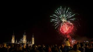 Fuegos artificiales fin de Fiestas del Pilar 2016