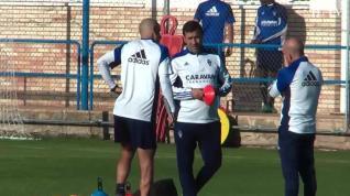 El Real Zaragoza prepara ya el partido contra el Almería
