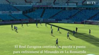 El Real Zaragoza se prepara para enfrentar al Mirandés