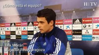 """Erik Morán: """"Estoy bien en el Zaragoza y no pienso en salir"""""""