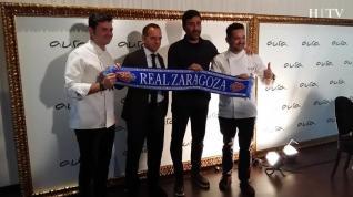 Real Zaragoza y Aura Restaurante firman un acuerdo de patrocinio