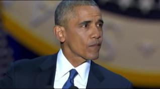"""Obama, emocionado, a su esposa: """"Me has hecho sentir orgulloso"""""""