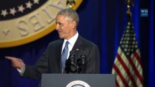 """Obama se despide de la Casa Blanca con el """"sí se puede"""""""