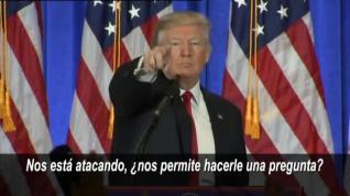 Donald Trump manda callar a un periodista en su primera rueda de prensa tras ganar las elecciones
