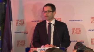 Benoît Hamon triunfa en la primera vuelta de las primarias socialistas francesas