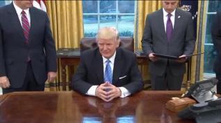 Trump rompe el tratado comercial de EEUU con Asia