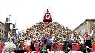 Imagen de archivo de la Ofrenda de Flores a la Virgen del Pilar.
