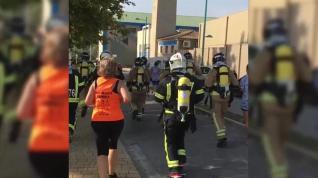 Los bomberos de Zaragoza corrieron 10 kilómetros... ¡con 25 kilos encima!